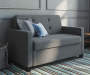 Devon Gray Sleeper Chair and a Half lifestyle living room