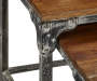 Distressed 2 Piece Wood and Metal Nesting Table Set silo top view
