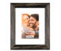 Distressed Black Frame 8 Inches by 10 Inches with Picture Silo Image