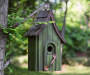 Distressed Wooden Birdhouse