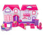Doll House Play Set 14 Piece Out of Package House Opened with Accessories Displayed Silo front Image