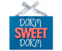 Dorm Sweet Dorm Hanging Ribbon Plaque silo front