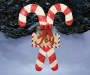 Double Candy Cane Light Up Sign 52 inch environment
