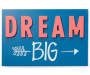 Dream Big Box Wall Plaque silo front