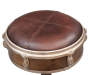 Drum Inspired Wright Leather Barstool silo top