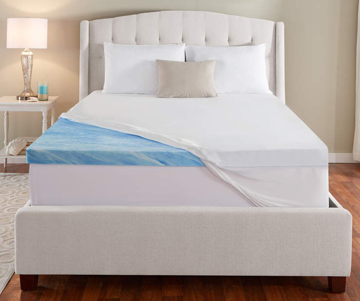 "Serta Perfect Sleeper Duocool 3"" Cooling Gel Memory Foam Mattress Toppers"