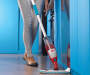 Dust and Corded Stick Vacuum lifestyle with model