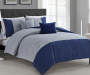 Dye Navy Blue Full Queen 5 Piece Comforter Set lifestyle