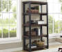 ESPRESSO/BLACK 4 SHELF BOOKCASE lifestyle