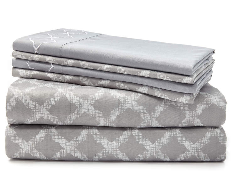 Easton Gray 6-Piece King Sheet Set Silo