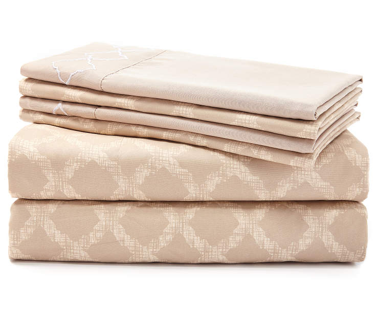 Easton Tan 6-Piece King Sheet Set Silo