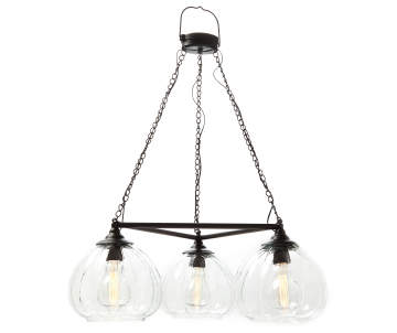 Wilson Fisher Edison Bulb Trio Battery Operated Chandelier With Remote Lots