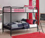 Eleana Black Metal Twin Bunk Bed lifestyle bedroom