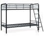 Eleana Black Metal Twin Bunk Bed silo angled