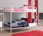 Eleana White Metal Twin Bunk Bed lifestyle bedroom