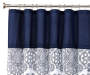 Elena Blue and White Medallion Fabric Shower Curtain Silo With Rod and Hooks