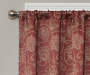 Elena Brick Jacobean Blackout Single Curtain Panel 84 inch lifestyle