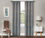 Elena Gray Jacobean Blackout Single Curtain Panel 63 inch lifestyle