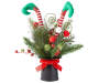 Elf Top Hat Artificial Floral Arrangement silo front
