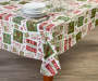 Elf Typography Holiday PEVA Tablecloth 52 inch x 90 inch lifestyle