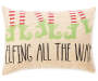 Elfing All The Way Tan Chenille Lumbar Throw Pillow 13 inch x 18 inch silo front