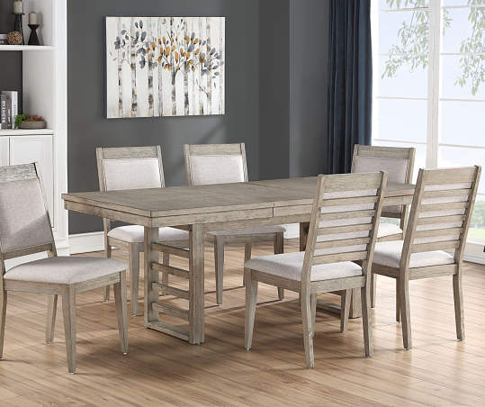 Ellington Trestle Gray Dining Chairs, 2-Pack