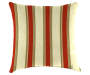 Emily Red Floral and Stripe Outdoor Throw Pillow 16 inch x 16 inch silo front