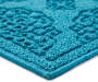 Enamel Blue Medallion Accent Rug 17 inch x 30 inch silo front
