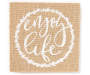 Enjoy Life Burlap Box Plaque silo front