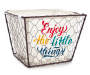 Enjoy the Little Things Small Chicken Wire Bin with Liner Front Angled Silo