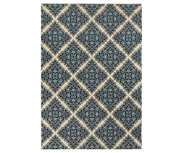Environs Ivory Area Rug 3FT10IN x 5FT5IN Silo Image