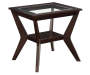 Espresso Beveled Glass End Table Silo Image