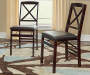 Espresso Cross Back Folding Chairs 2 Piece Set lifestyle