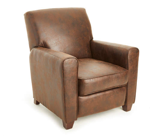 Stratolounger Espresso Faux Leather Push Back Recliner Big Lots