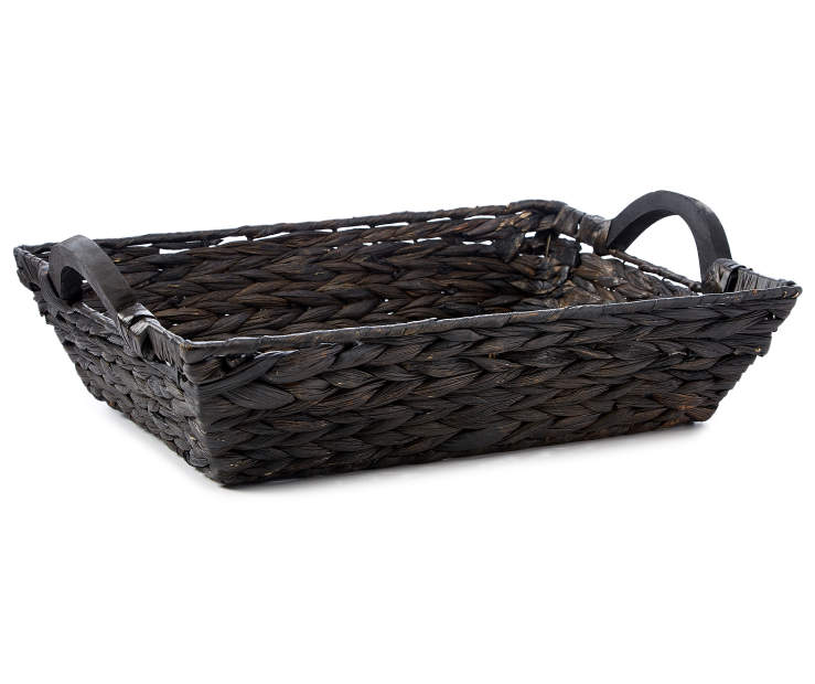 Espresso Water Hyacinth Tray silo front