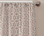 Ethan Almond Trellis Room-Darkening Single Curtain Panel 95 inches Cropped Lifestyle