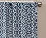 Ethan Indigo Trellis Room-Darkening Single Curtain Panel 84 inches Cropped Lifestyle