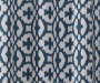 Ethan Indigo Trellis Room-Darkening Single Curtain Panel 84 inches Swatch