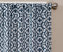 Ethan Indigo Trellis Room-Darkening Single Curtain Panel 95 inches Cropped Lifestyle