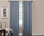 Ethan Indigo Trellis Room-Darkening Single Curtain Panel 95 inches Lifestyle