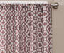 Ethan Spice Trellis Room-Darkening Single Curtain Panel 84 inches Cropped Lifestyle