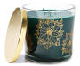 Evergreen Floral Pattern Jar Candle 14 ounce silo front