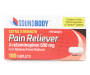 Extra Strength Pain Reliever, 500mg, 100 Caplets Silo Image Overhead View
