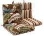 FAIRBANKS BROWN BOTANICAL CHAIR CUSHION