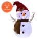 FLOCKED SNOWMAN SANTA HAT