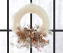 FUR WREATH W/FLORAL DÉCOR
