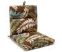 Fairbanks Botanical and Stripe Reversible Outdoor Chair Cushion lifestyle