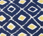 Fairlane Blue Diamond Outdoor Throw Pillow 12in x 20in swatch