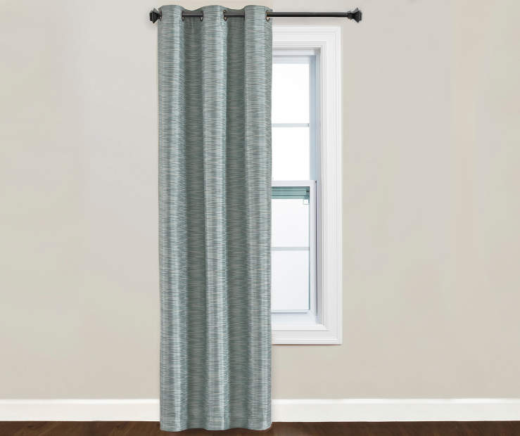 Fairmont Blue Blackout Curtain Panel Window Image