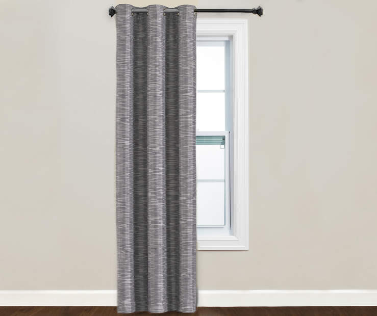 Fairmont Gray Blackout Curtain Panel Window Image